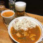 スープストックトーキョー - カレーとスープのセット ハイネケン
