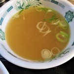 日高屋 - スープ