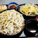 あしがくぼフルーツガーデン - もりうどん+天ぷら1/2