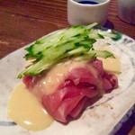 あて 煮込 肴 - 料理写真:「鮪ぬた」(650円税別)。