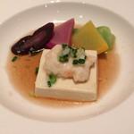 61602771 - 豆腐と海老の蒸し物