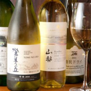 話題の日本ワイン50種類以上!みんなで気軽に楽しもう!