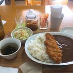 カレーハウス若菜 - 料理写真:カツカレー大盛り(600円税込)