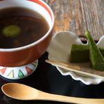辰巳屋 - ぜんざい 抹茶白玉 抹茶チーズケーキ