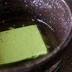 辰巳屋 - 抹茶豆腐