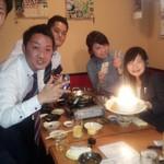 居酒屋じゅうじゅうぅ - 本館個室での 誕生日会!