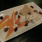 ルフージュ - チーズの盛合せ