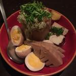 柳堂 - 大根、筍、焼きドウフ、玉子。大根にはとろろ昆布!