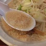 61621528 - スープ、背脂浮かんでいます(^^)