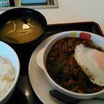 松屋 - ビーフシチューエッグハンバーグ定食・750円
