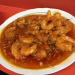 陽華楼飯店 - エビチリ1800えん味が活きています。 唯辛いのとは違います…美味しいです。