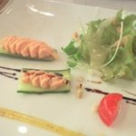 ビストロ・ヨシムラ - Bランチ前菜『自家製スモークサーモンのムース・サラダ仕立て』