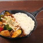 野菜を食べるカレー camp - インカのめざめと彩り野菜の欧風チーズカレー