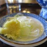竹扇 - おろし生姜と刻みねぎアップ