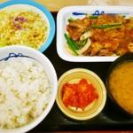 松屋 生田店 - プルコギ定食キムチ