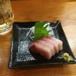 Yottekebakimmarusakaba - ハマチ刺し(190円)