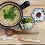 銀座やまう - 雑炊とお漬物のセット
