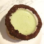 エニウェア・ドア - コーンショット/チョコクランチ×チョコクリーム&抹茶ラテ 680円(税込)