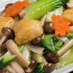 地久 - ホタテと青梗菜の炒めもの