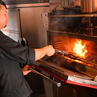大注目!レアな最新グリルマシーンを使用したグリル料理を堪能!