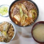 磯野家 - 肉豆腐定食(※ライスをかきめし(小)に変更)1170円