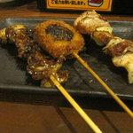 本陣串や - 皮(タレ)・しいたけ肉詰め・豚バラ