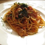 6165852 - チキンと小松菜のトマトソースパスタ