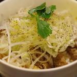 志奈そば 田なか - 黒胡椒豚のっけご飯