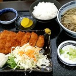 そば処 井むら - B定食(とんかつと蕎麦)980円