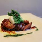 かわ村 - 2017年1月再訪:second 黒毛和牛イチボ肉のタリアータとフォアグラのポワレ☆