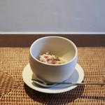 かわ村 - 2017年1月再訪:antipasto 毛蟹と里芋のスフォルマート アグロドルチェソース☆