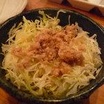 錦家 - ☆キャベツの千切りと鶏そぼろですね!(^^)!☆