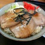 味の北京亭 - セットのチャーシュー丼。