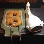 串かつ蔵 - 料理写真:小エビのシソ巻き