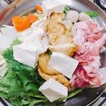 相撲料理 ちゃんこ成山 - ちゃんこ鍋しょうゆ味
