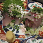 魚料理 吉成 - 釣り鯵刺身
