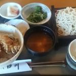 そばと膳 田川 - 昼膳から牡蠣の天丼と冷たい蕎麦大盛1080円