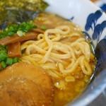 麺屋 湯や軒 - 八豚ら~麺 平打ち麺