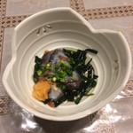 中国料理 角半 - お通しは、海鼠