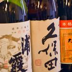 酒と肴 じん - 種類豊富な焼酎・日本酒