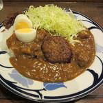 マーブル - インドカレー・ゆでたまご・ハンバーグ 1000円