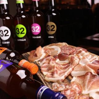 イタリア(VENEZIA)ビール8種と生ハムサラミ10種