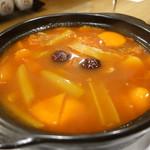 61680115 - ドラゴンフルーツと和牛すね肉のトマトスープ
