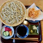 石碾蕎麦 おもだか - 桜えびのかき揚げそば(もり) 1600円