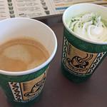 61686803 - ブレンドコーヒー&抹茶ミルクラテ