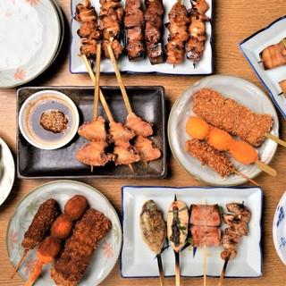 [旨い!&安い!新鮮地鶏]ぼんくらの炭火焼鳥・串焼き・串カツ