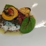 リッチ - ムール貝とトリッパ、レンズ豆とともに