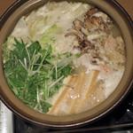 61692314 - 秋田大舘(おおだて)産の比内地鶏の水炊き