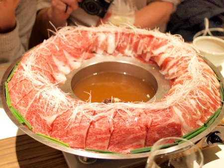 金蔦 六本木 - 炊き肉鍋(佐賀牛と黒宝豚)