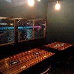 北新地日本酒酒場キャンプ - 個室出来ました!冷蔵庫付き、〜13名様までご対応出来ます。
